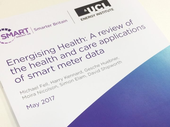 UCL-Energy report highlights potential for smart meter data to support healthcare